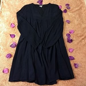 Crown & Ivy Navy Long-sleeve Dress